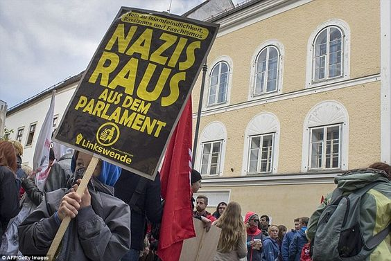 Each year, on the anniversary of Hitler's birth, anti-fascist protesters demonstrate outside the building