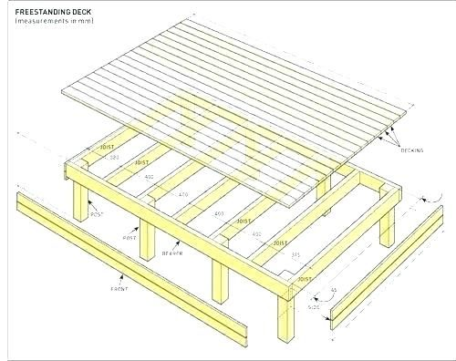 Image Result For Simple Deck Plans Deck Plans Freestanding Deck Deck Building Plans