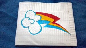 My little pony cutie mark duck tape wallet rainbow dash