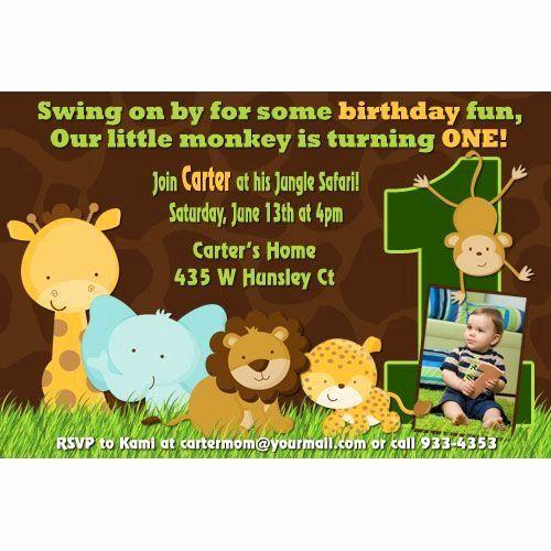 Jungle Themed Invitation 1st Birthday Luxury Jungle Birthday Invitations 1st Birthday Party Invitations Party Invite Template Animal Party Invitations
