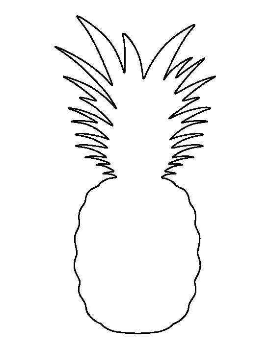 Obsessed image for pineapple template printable