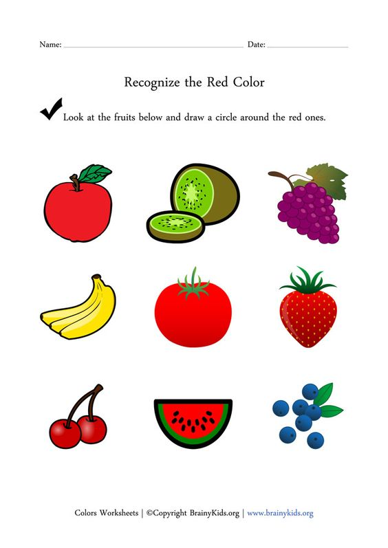 Worksheets Preschool Worksheets For The Color Red color red worksheets for preschoolers coloring pages recognize the fruits worksheet early childhood education brainy kids