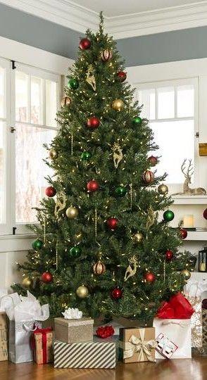 Pre Lit Hinged Douglas Artificial Christmas Tree W Stand Amazing Christmas Trees Christmas Door Wreaths Christmas Tree Decorations
