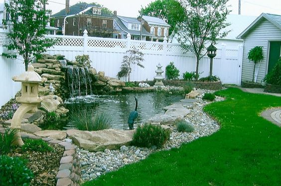 Beautiful backyards and diy and crafts on pinterest - Corner pond ideas ...