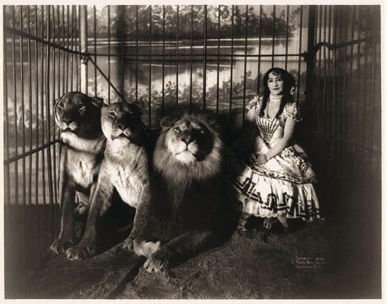 Adjie the Lion Tamer, 1899.