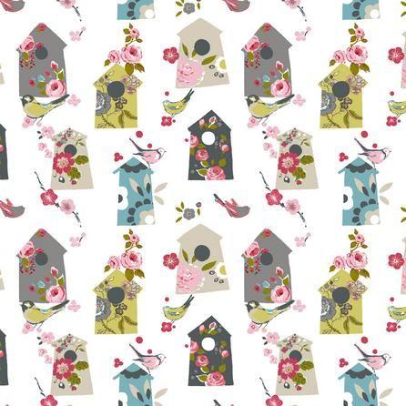 Floral Birdhouse Fabric Dunelm £8.99 per metre Bathroom