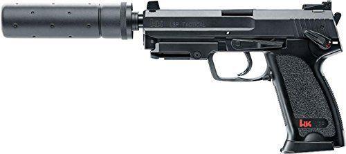 Heckler & Koch USP TACTICAL Cal. 6 mm BB Airsoft Pistole mit Schalldämpfer…