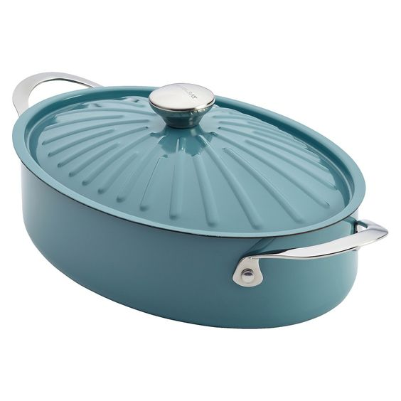 Rachel Ray Cucina 5 Qt. Covered Oval Sauteuse