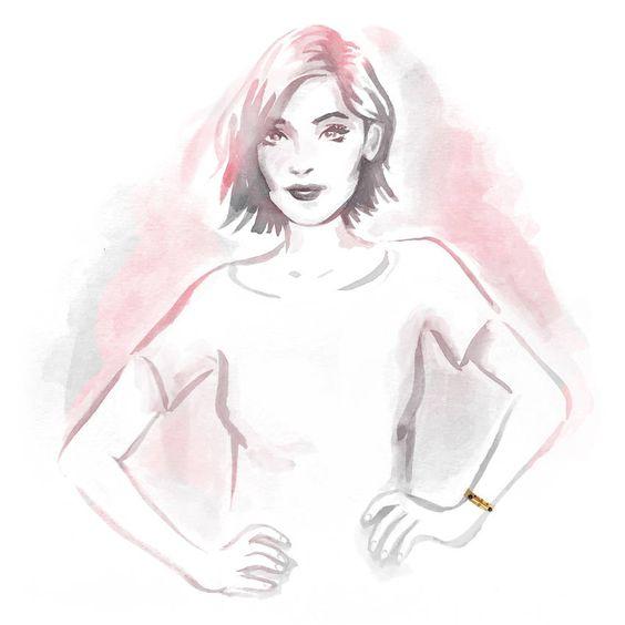 Bracelete de metal dourado com pedras lápis-lazúli - Flair por Flavia Baldi