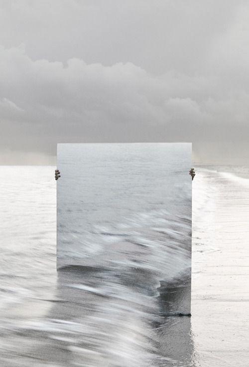 Mer et miroir