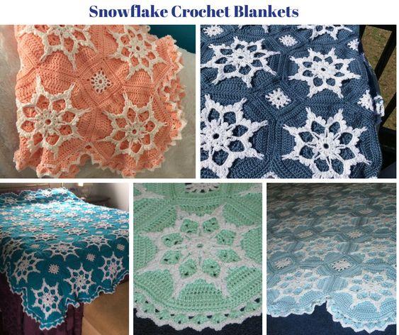 Snowflake Crochet Blankets by sherryann325
