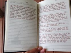 """Journibles""--a help to hand-write the Bible. xref: http://www.blogos.org/christianlifeandgrowth/writing-bible.php"