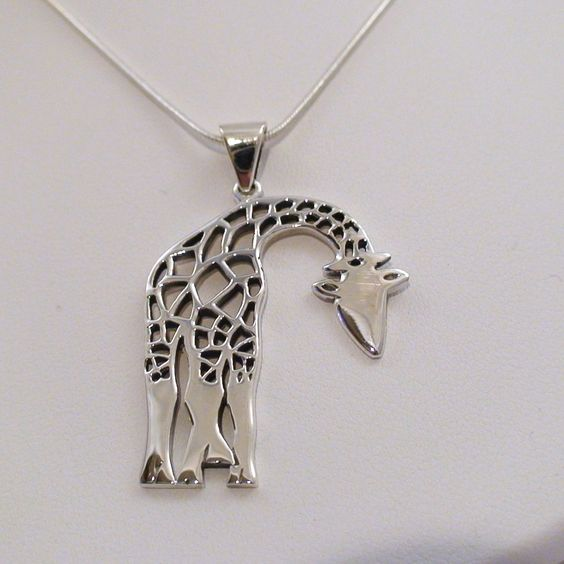 FashionJunkie4Life - Sterling Silver Large Giraffe Necklace, $28.00 (http://www.fashionjunkie4life.com/sterling-silver-large-giraffe-necklace/)