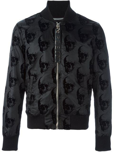 PHILIPP PLEIN 'Think' Bomber Jacket. #philippplein #cloth #jacket