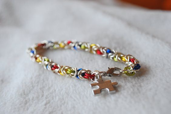 Autism Awareness Silver and Multicolor by TheShiveringForest $22