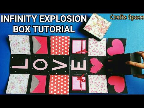 Infinity Explosion Box Tutorial Rolling Cube Tutorial Endless Box Tutorial By Crafts Space Yout Explosion Box Tutorial Exploding Box Card Explosion Box
