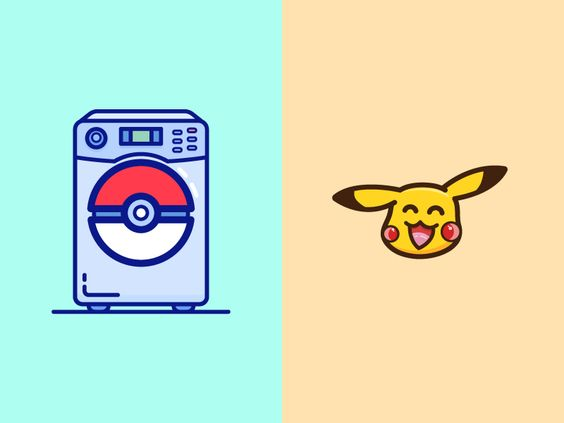 Washing Machine-Pikachu by tere: