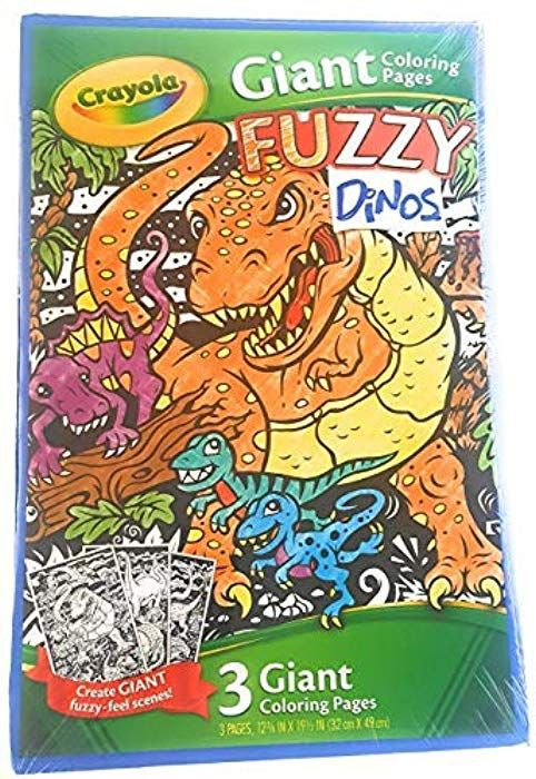 Crayola Jumbo Coloring Pad Pages For Kids - Giant Fuzzy Velvet Dino Posters  (32 X 49 Cm) Fun To Color On The Go: Amazon.… Crayola Kids, Coloring For  Kids, Crayola