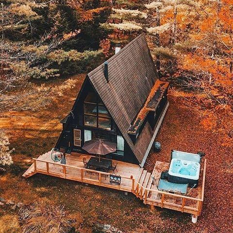 Tiny Cabin Houses Cabin Lifestyler Fotos Y Vídeos De Instagram A Frame House Plans Little Cabin Tiny House Cabin