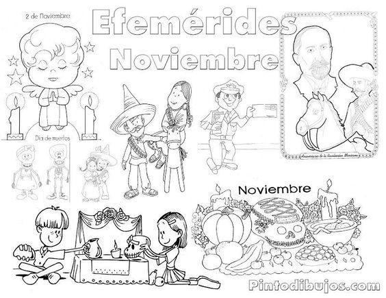 Resultado de imagen para efemerides de noviembre para colorear