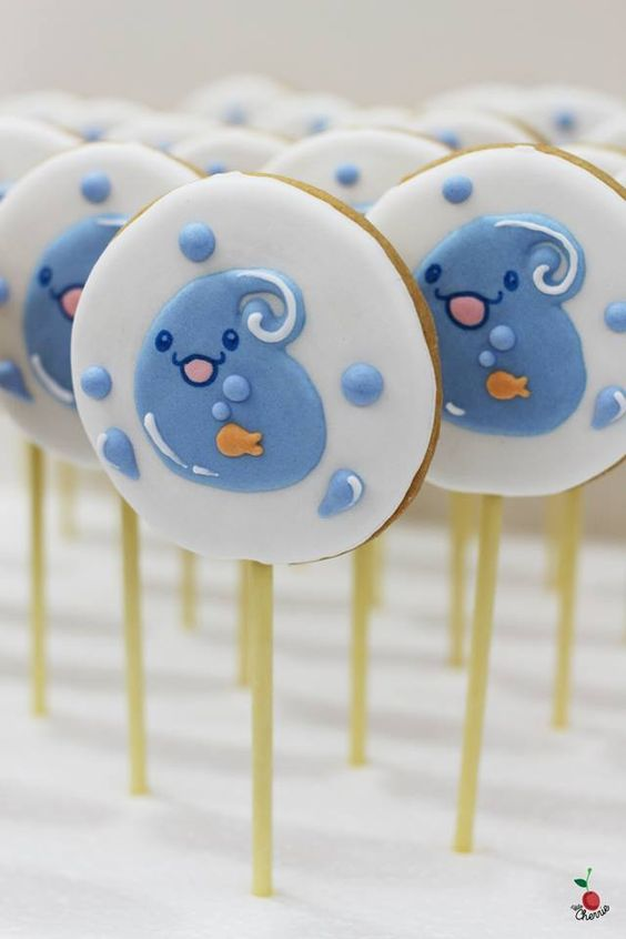Farewell Cookie Pop Icing cookie pops Cute water drops