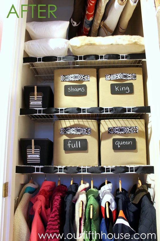 Linen Closet Organization Roll Sheets Store Sheets Wash