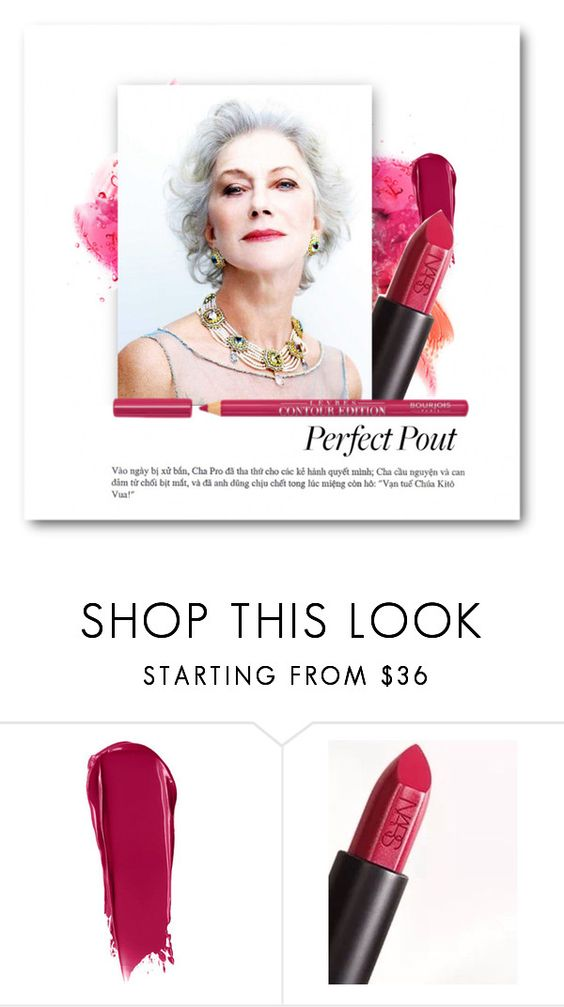 """""""AUDACIOUS"""" by patricia-dimmick ❤ liked on Polyvore featuring beauty, NARS Cosmetics, Bourjois, makeup, lipcolor, statementlip and lipplumpers"""