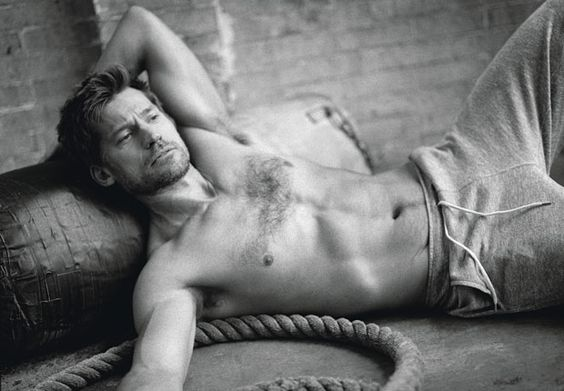 Great Dane: Game of Thrones' Nikolaj Coster-Waldau.  This is actually a very good interview, as well as beefcake.
