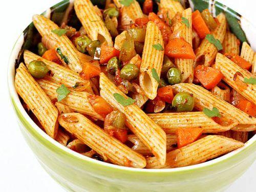 Masala Pasta Recipe How To Make Pasta Indian Style Pasta Recipe Veg Recipes Pasta Recipes Indian Indian Veg Recipes