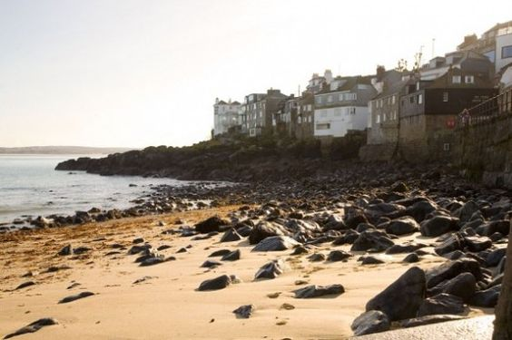 The oddly named Lambeth Walk beach in St Ives