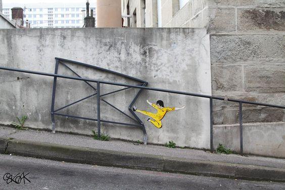 Street Art by Oakoak in Saint Etienne, France: