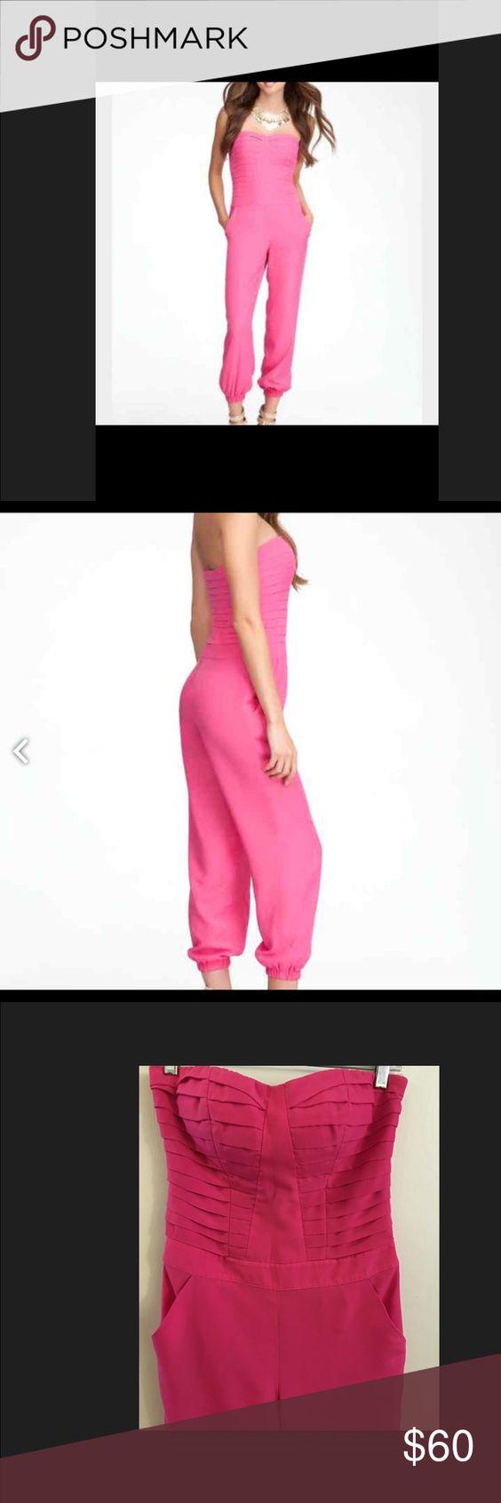 Bebe jumpsuit Pink Bebe jumpsuit size xs bebe Pants