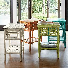 @Ashley Walters Walters Walters Burns: Small Rattan Table - bright painted wicker seems to be popular!