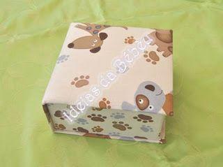 """Ideias da Bébéu (Em reconstrução): Caixa forrada a pano (Esta foi para o meu cão o """"L..."""