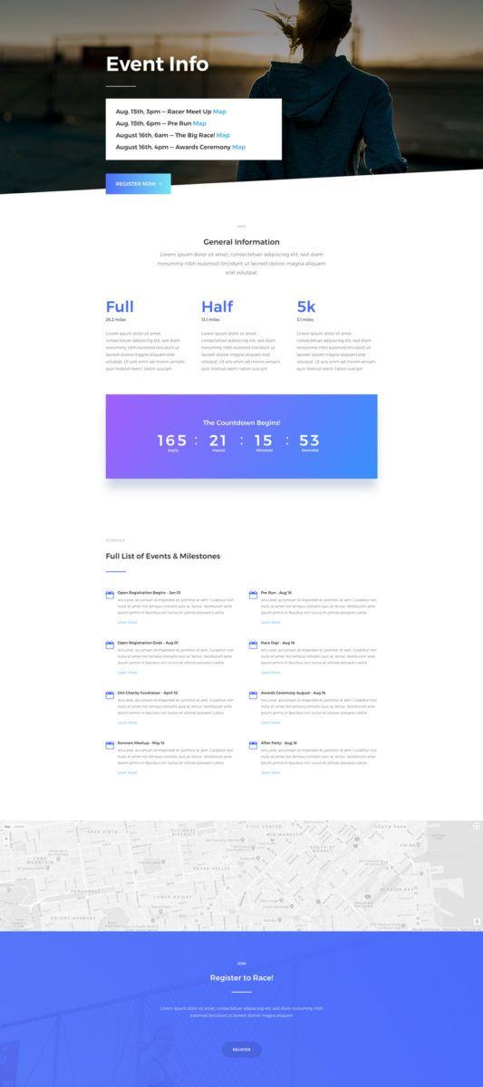 Modern Creative Clean Contemporary Marathon Event Page Web Design Inspiration Ideas Example Web Design Inspiration Web Design Event Landing Page
