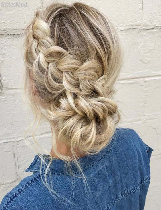 Delightful Braided Hairstyles For This Weekend In 2018 Bridal