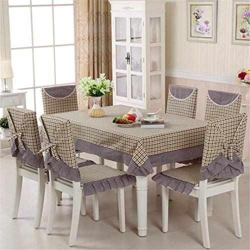Zghafbes 13pcs Set Rectangular Tablecloth And Dining Chair Covers