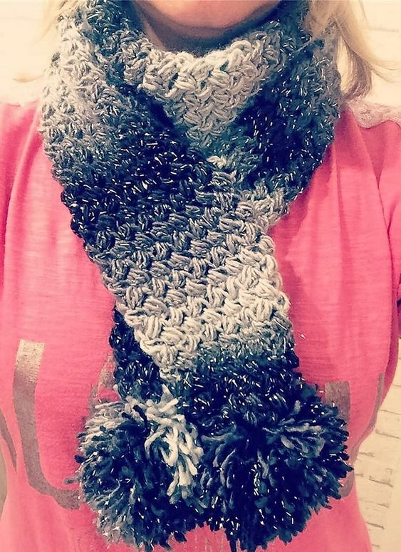 Finished my scarf stylecraft cabaret i just loooove this yarn. Claudia Brown