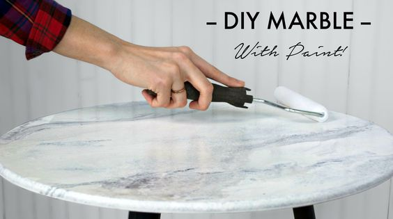 Dreaming of marble, but it isn't in the budget? Paint your own! Transform any desktop, worktop, or vanity into a custom marble-like finish using this techniq...