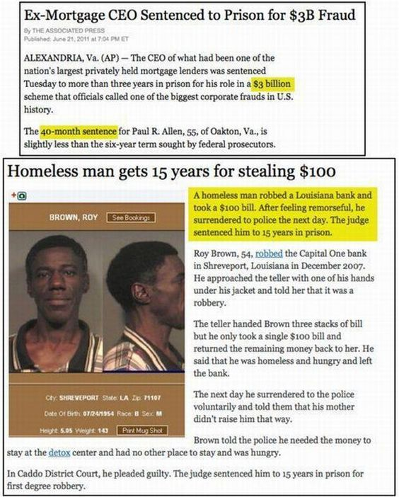 there is some warped justice...wtf!