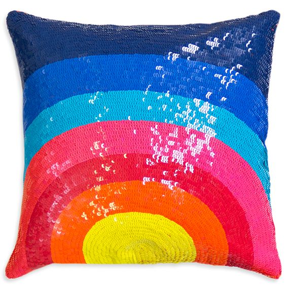 Rainbow Bright: The Happiest Pillow Around // Nico Sunrise Throw Pillow by Jonathan Adler: