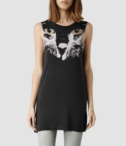 NWOT-AllSaints-Black-Cat-Gato-Cat-Top-Dress-Size-Large
