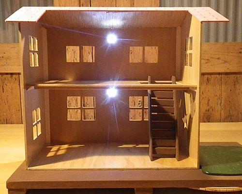 Led照明付きのドールハウスを作ってみた ドールハウス ハウス リカちゃんハウス