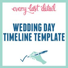 Expert Advice Creating A Wedding Day Timeline Timeline - Wedding day timeline template free