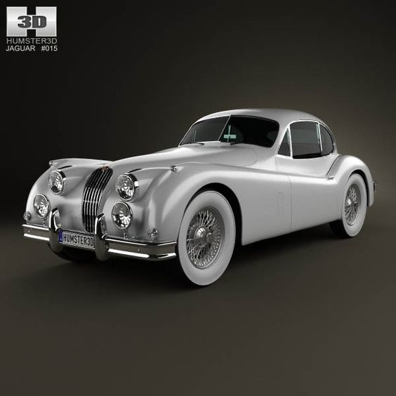 1954 Jaguar Xk140: Jaguar XK 140 Coupe With HQ Interior 1954 3D Model