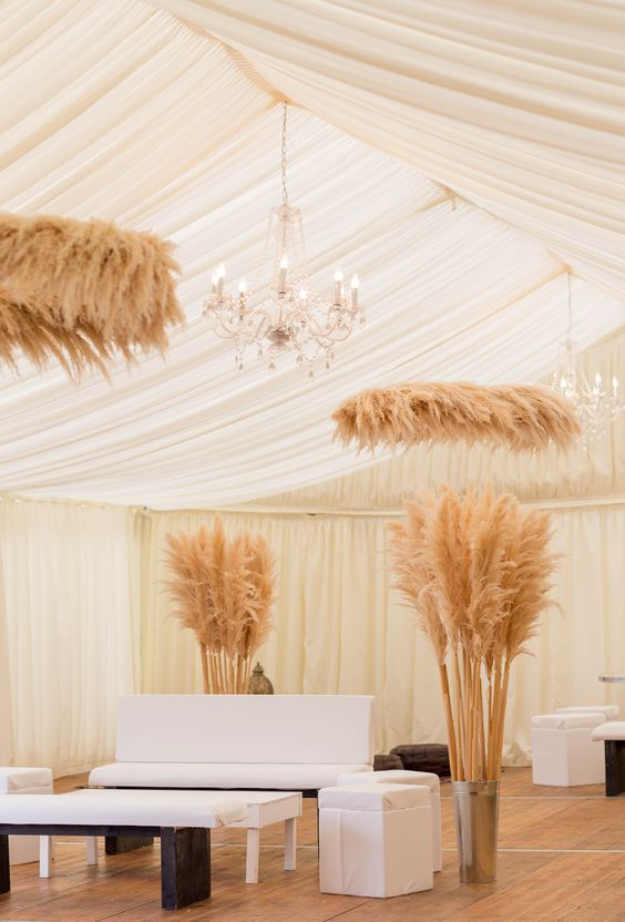 Chill out area LOVE the Pampas Grass features from Wildfire Flowers @wildfire_flowers