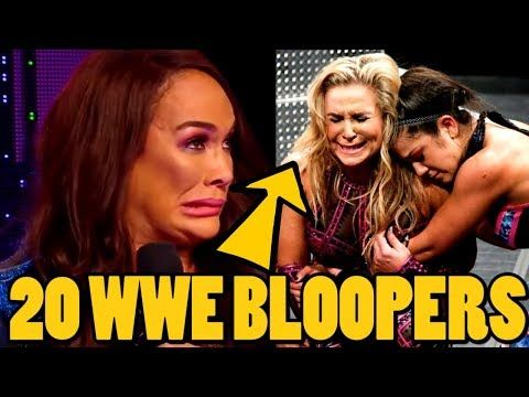 20 Embarrassing Wwe Bloopers Mistakes That Actually Aired In 2019 Youtube Bloopers Embarrassing Wwe