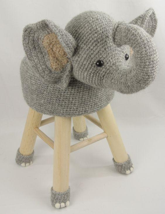 Dieren kruk olifant Haakpret: