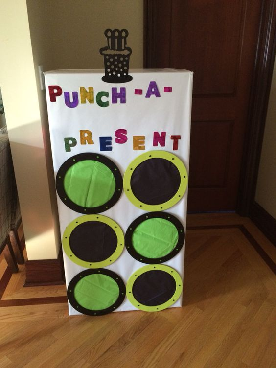 Punch-a-present gift for birthday.