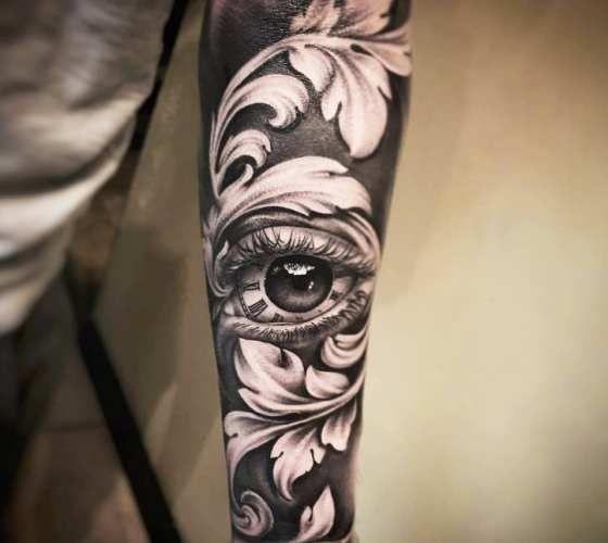 Eye With Baroque Ornament Tattoo By Hugo Feist Post 20251 Tattoos Eye Tattoo Filigree Tattoo